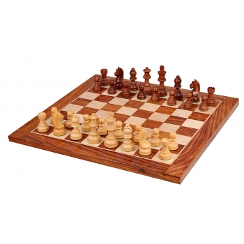 GERMAN STAUNTON GOLDEN ROSEWOOD CHESS SET