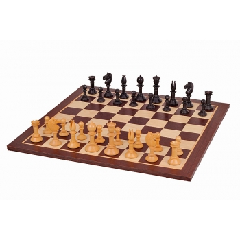 NORTHERN BLACK AND WENGE CHESS SET