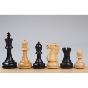 "Executive Ebonised 3,75"" chess pieces"