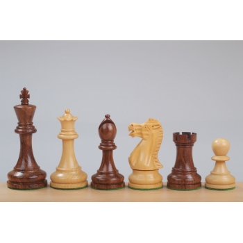 "Executive Golden Rosewood 3,75"" chess pieces"
