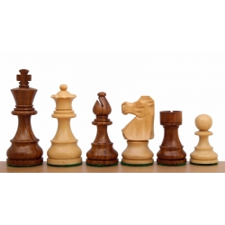 "French Staunton Golden Rosewood 3,5"" chess pieces"