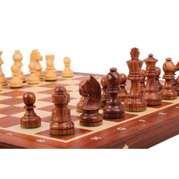Tournament No 5 German Knight Golden Chess Set