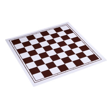 Plastic chess board, foldable, white/brown