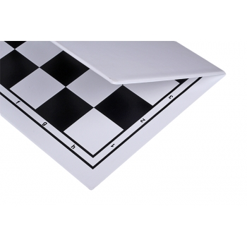 Plastic chess board, foldable, white/black