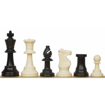 Staunton no 6 (3,75'') plastic chess pieces, unweighted