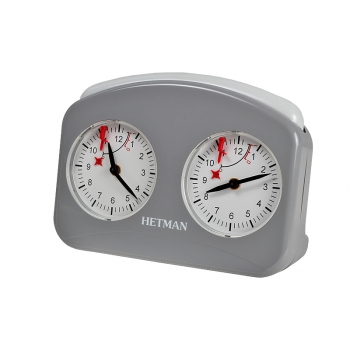 HETMAN plastic chess clock – GREY LARGE